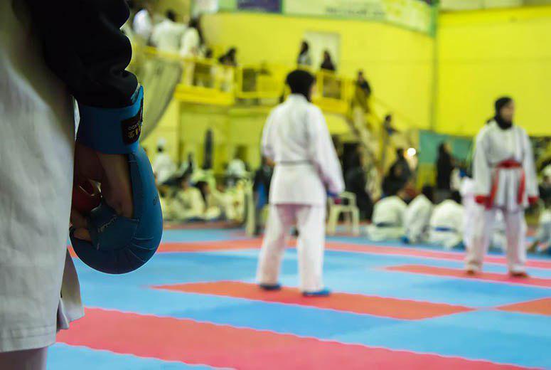 تصویر در مسابقات کاراته بالاتر از اعتکاف نیست