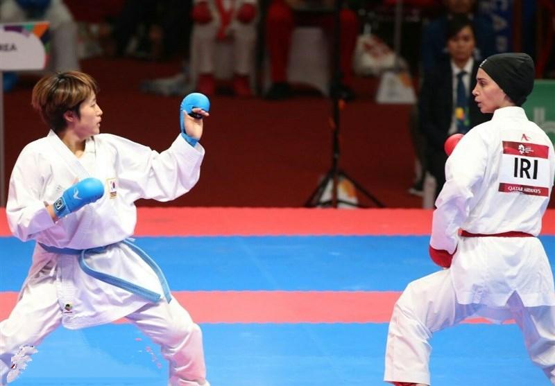 تصویر در معرفی نفرات سوم راه یافته به اردوی تیم ملی نوجوانان و جوانان دختران کاراته