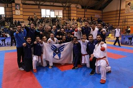 تصویر در برای حضور در سوپر لیگ؛ توافق دانشگاه آزاد با المپیکیهای کاراته